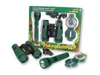 Set malého táborníka - dalekohled, kompas, píšťalka a svítilna
