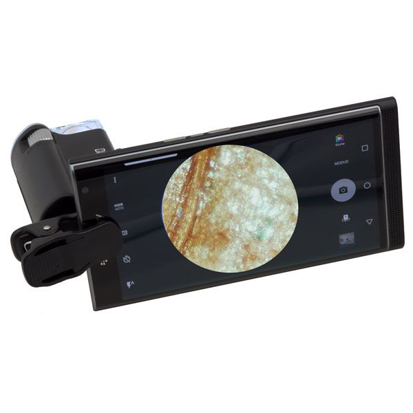 Digiphot Kapesní mikroskop 60-100x s klipem na smartphone PM-6001