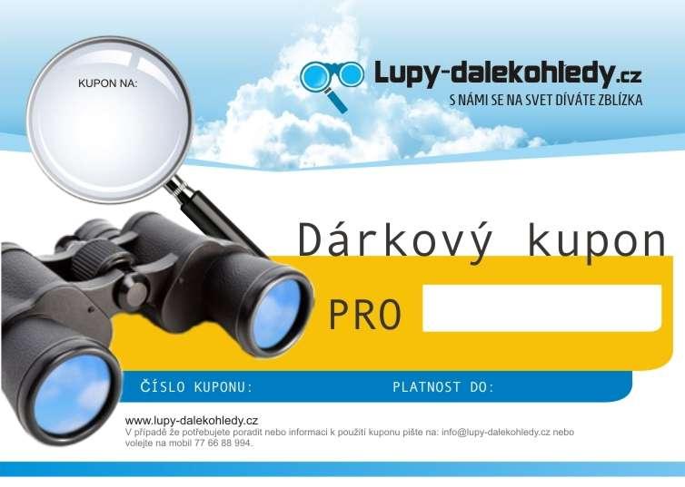 Dárkový kupon 750,-Kč Lupy-dalekohledy.cz