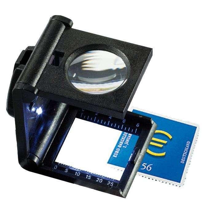 Skládací lupa 5x LED s měřítkem Leuchtturm