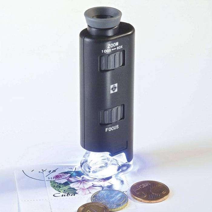 Kapesní mikroskop s LED diodou 60-100x Leuchtturm