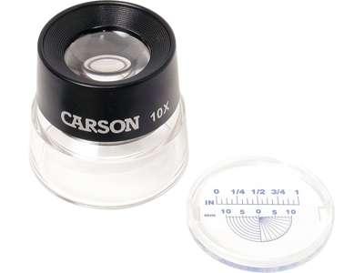Příložní lupa se stupnicí LumiLoupe Carson LL-20 Carson Optical (USA)