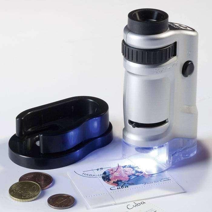 Zoom mikroskop s LED diodami a zvětšením 20-40 x Leuchtturm