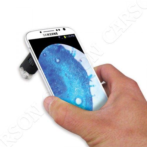 Carson Optical (USA) Mikroskop 60-100x s adaptérem na Samsung Galaxy Carson MM-240