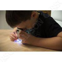 Dětský mikroskop 20-40x s LED světlem KM-20