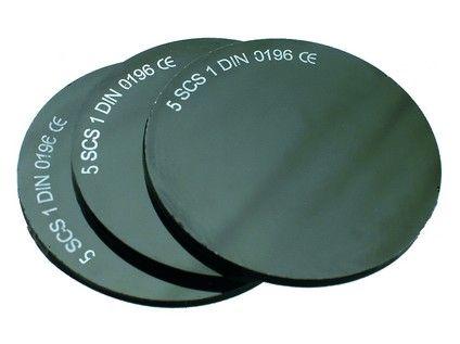 Sklo do svářečských brýlí, průměr 50 mm, tm. č. 5; 2223-T05