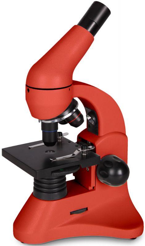 Mikroskop Levenhuk Rainbow 50L OrangePomeranč + dárek Neviditelný svět. Vzdělávací publikace