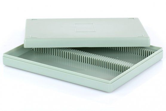 Kontejner pro mikroskopické preparáty (100ks)