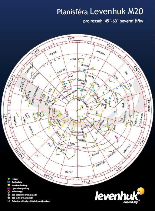 Velká mapa hvězdné oblohy M20
