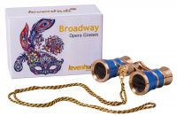 Divadelní kukátko Levenhuk Broadway 325C s řetízkem - Blue Wave