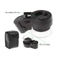 Klenotnická lupa Artbox - zvětšení 45x + LED/ UV