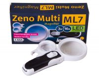 Lupa s vyměnitelnými čočkami Levenhuk Zeno Multi ML7 - 3x a 16x + LED
