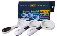 Sada 3 lup Levenhuk Zeno Multi ML13 - 2x, 3x a 4x + LED
